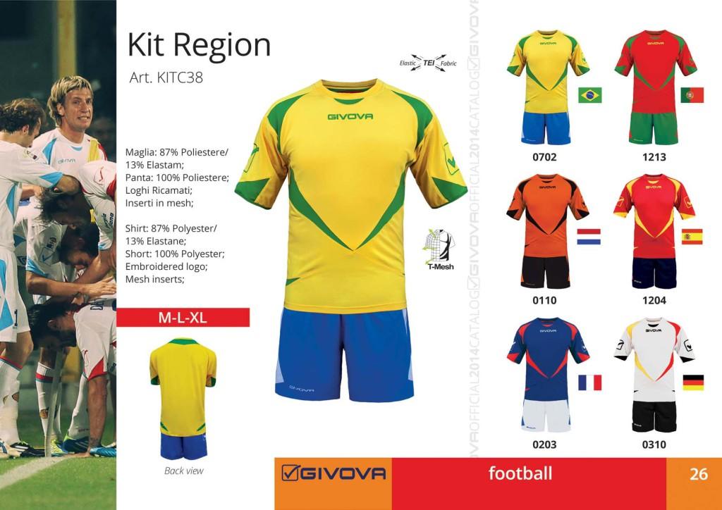 Katalog - komplety piłkarskie Givova
