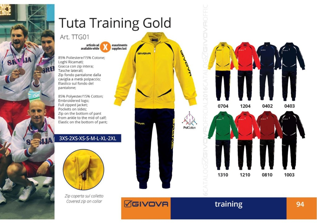 tuta-training-gold